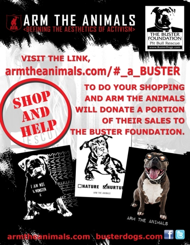 Promo Flyer for The Buster Foundation and Arm The Animals