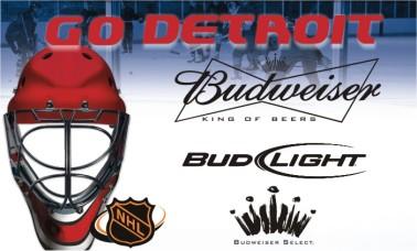 Budweiser Hockey Sign 4'X2'
