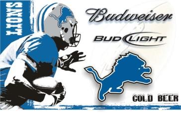 Budweiser Lions Sign 4'X2'