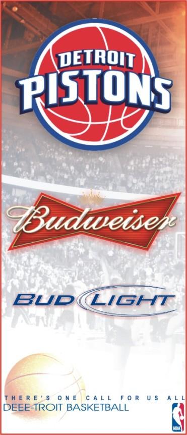 Budweiser Pistons Sign 2'X8'
