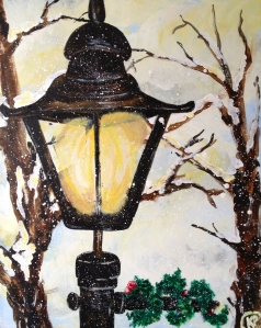 """Lamp Post"" 16""X20"" Canvas"