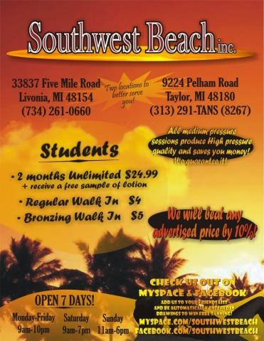 Southwest Beach Flyer (Front)