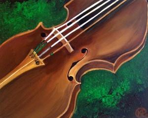 """""""Violin"""" 16""""X20"""" Canvas"""